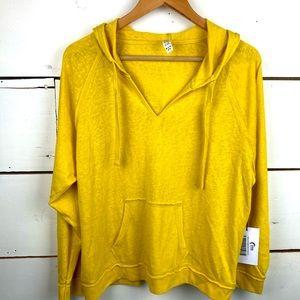 Zyia yellow lightweight beach hoodie XL